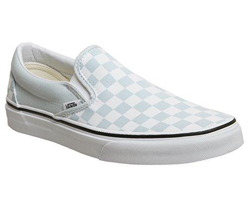 Vans Classic Slip-On, Sneaker Infilare Donna Blu (Checkerboard)