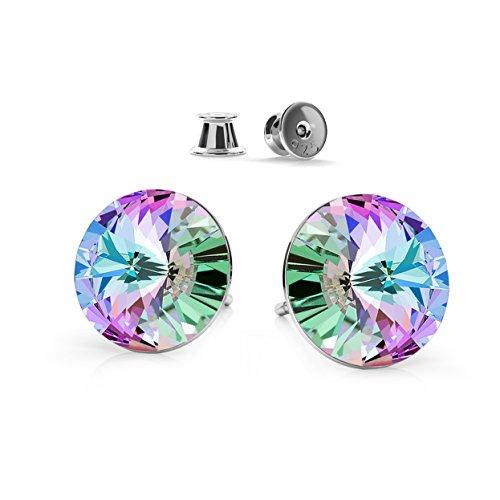 6b9f6c70382f Crystals   Stones 925 Plata Pendientes  Rivoli  Colore  Vitrail Light    Hermoso -