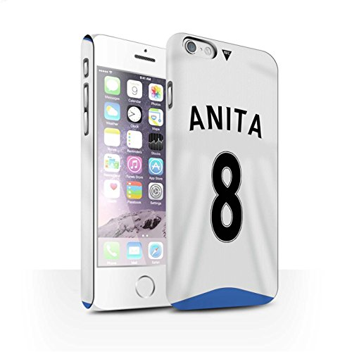 Offiziell Newcastle United FC Hülle / Matte Snap-On Case für Apple iPhone 6 / Pack 29pcs Muster / NUFC Trikot Home 15/16 Kollektion Anita