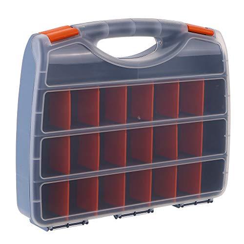 Festnight Kunststoffteile Aufbewahrungsbox Mehrere Fächer Steckplatz Hardware Box Organizer Craft Cabinet Tools Komponenten Behälterzubehör Aufbewahrungskoffer mit verstellbaren Teilern 21 Gitter