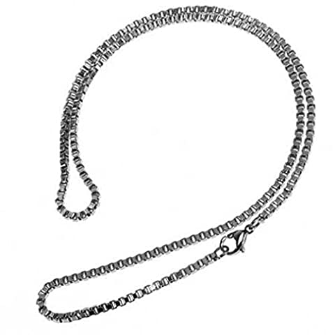 Attractive Stainless Steel Necklace Venetian chain, 3mm (Collana Veneziana Catena)