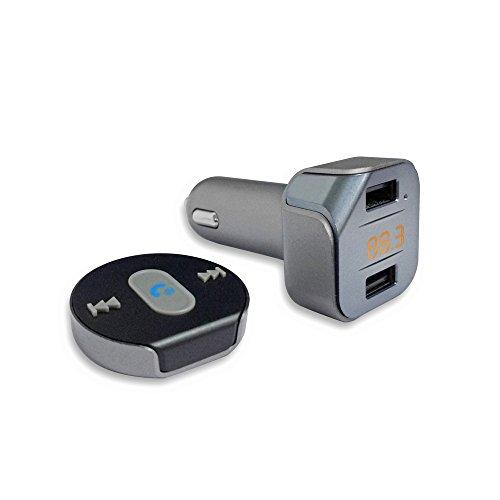Pyle Bluetooth FM Transmitter Auto 4.1, kabellos Fahrzeug Audio-Streaming Empfänger, USB-Ladegerät-Set, inkl. kabellose Fernbedienung, Dual USB Anschlüsse. (pbt96)
