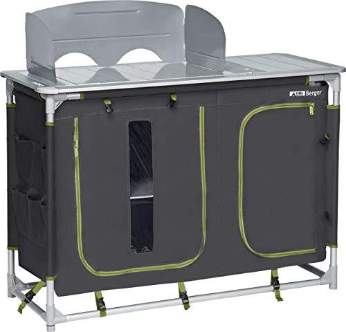 Berger Campingküche mit Spüle 116 x 83 x 52cm Küchenbox Campingschrank