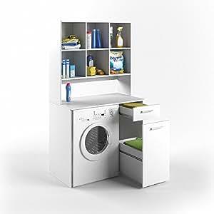vicco waschmaschinenschrank kombination wei 185 x 103 x. Black Bedroom Furniture Sets. Home Design Ideas