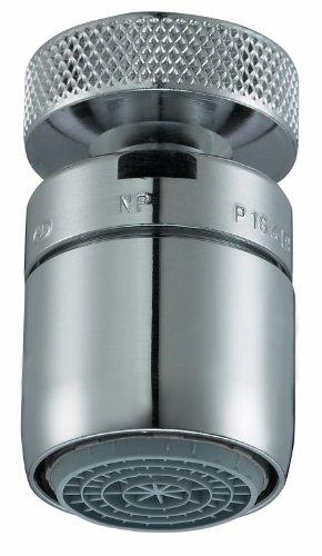 Perlator 11005798 - Rompigetto a risparmio idrico con giunto a sfera per rubinetti M22 x M24, cromato