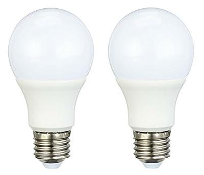 AmazonBasics LED Bulb E27, 9.5W to 60W, 806 lumen - Pack of 2
