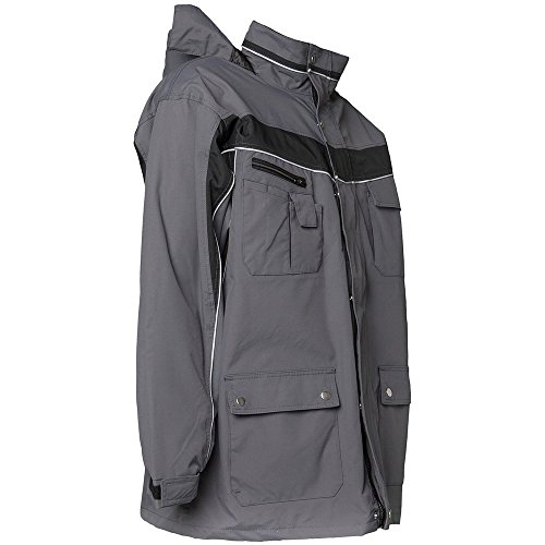 Plaline Arbeitskleidung Allwetterjacke rot/schiefer schiefer/schwarz