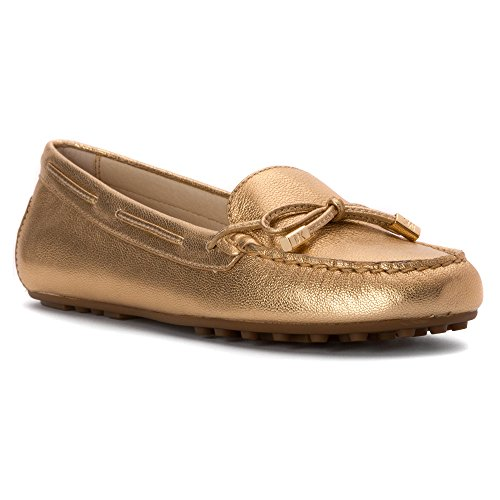 Michael Kors Michael Daisy Moc Moc Toe Leather Loafer pale gold