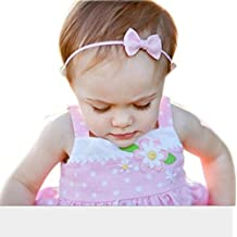 Diademas para bebé Sannysis Conejo arco Hairband, Venda del Bowknot (Rosa)