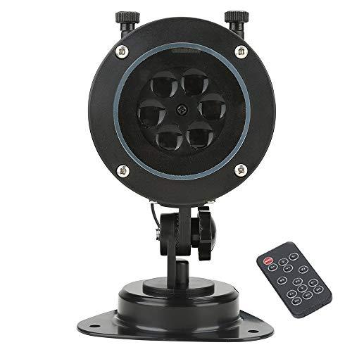 (LED Animierte Projektionslampe mit 12 verschiedenen Dias Fernbedienung Weihnachtsbeleuchtung Projektor Lampe wasserdicht Weihnachtsschmuck)