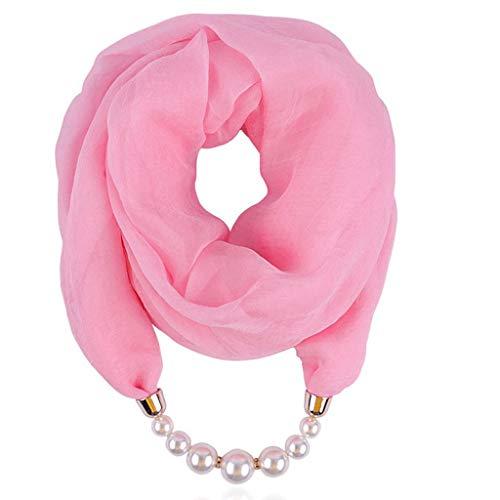 LSAltd Frauen Chiffon Halskette Bib Perlenkette Anhänger Schal Sonnenschutz Halskette Schal - Bib Detail Bluse