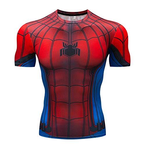 Herren Kurzarmshirts Avengers 3 Thor 3D Print T-Shirt Herren Kompressionshemd Cosplay Kostüm (Farbe : #11, größe : 3XL)