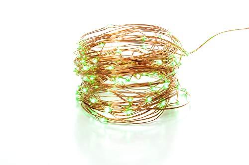 100 LED-Lichterkette, 10,5 m, mit 105 LEDs, 8 Funktionen, USB-Netzteil, Kupfer und schwarzem Draht S4U Copper Wire String Lights - Green -