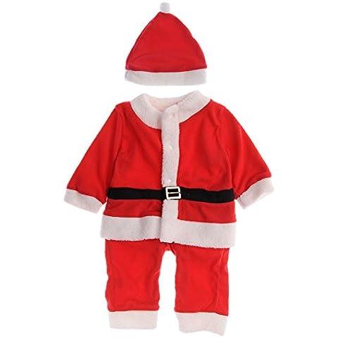 Navidad Disfraces traje Niños bebés Niñas traje de Santa Niños de Santa mameluco del bebé