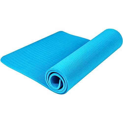 GORILLA SPORTS Yogamatte (173x61cm) - Rutschfeste Sportmatte für Pilates, Yoga, Fitness, Workout, Turnen - erhältlich Dicke 0,4cm/1,0cm Dicke 10 mm, Farbe Türkis