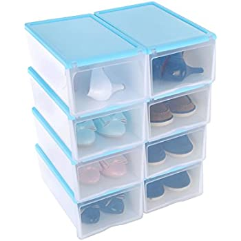 Shoe Box, HST Mall Ladies Men Stackable Plastic Shoe Storage Box Organiser  With Clear Door