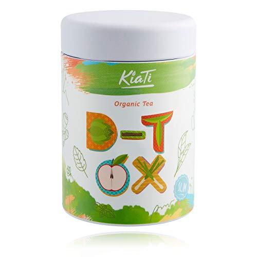 KiaTi® loser 28 days D-tox Tea 80g, 100% BIO - zur Begleitung einer Detox Tee Fasten, Entschlackung und Reinigungskur und Diät mit Gerstengraspulver - Grüner Tee Sencha - Brennnesseltee - Goji Beeren