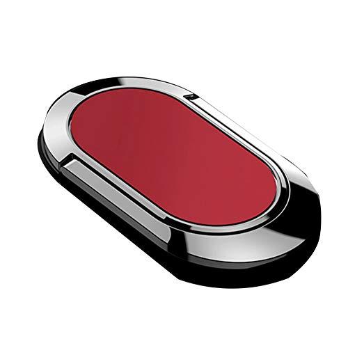 Handy Ring Smartphone Fingerhalterung,Magnetische Handyhalterung für iPhone Samsung Huawei und mehr Rot