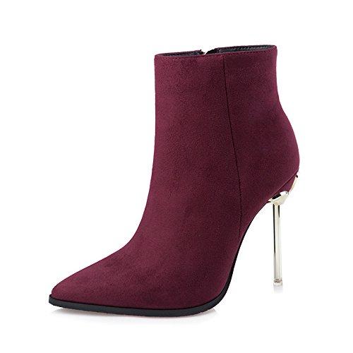FLYRCX Onorevoli personalità Sexy, elegante tacco alto stivali, sharp scarpe a punta in autunno e inverno C