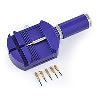 Ukallaite Watch Band Repair Tool,Bracelet Wrist Watch Band Adjuster Repair Tool Set Link Strap Remover + 5 Pins Watch Gadgets Accessories