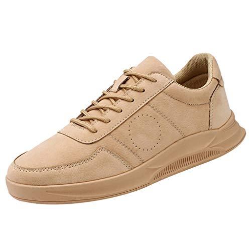 Anglewolf Herren Sneaker Laufschuhe Sportschuhe Air Turnschuhe Running Fitness Outdoors StraßEnlaufschuhe Farben Schuhe Trainer Leichte Profilsohle(Khaki,42 EU)