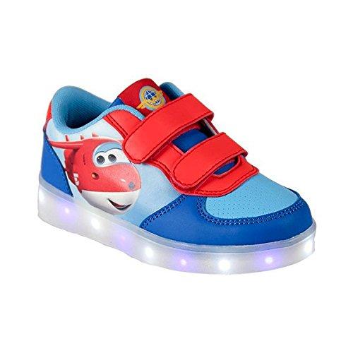 Eurowebb Paire de Baskets LED Super Wings à Semelles Lumineuses - Chaussure Lumiere Enfant Taille des Chaussures - 30