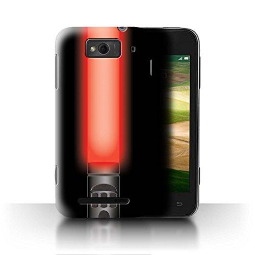 Stuff4® Hülle/Case für Xiaomi Mi 1S / Vader Sith Herr Rot Muster/Lightsaber Laserschwert Kollektion (Red Mi 1s Handy)