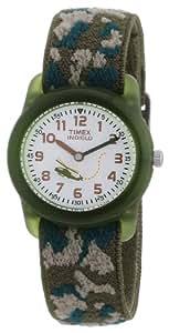Timex Jungen-Armbanduhr Analog Quarz Textil inklusive Kinderbuch 66078141SET