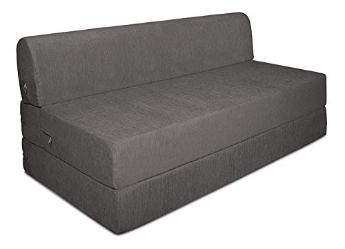 Aart Store Sofa cums Bed 4x6 Two Seater Sleeps & Comfortably Perfect for Guests Grey Color