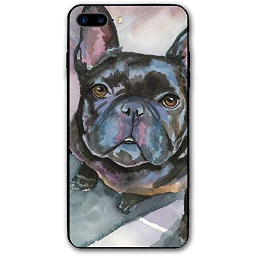 HNJZ-GS Kunst-Schwarz-Malerei der französischen Bulldogge iPhone 7 Plus 8 Plus 7/8 Plus Handyhülle Thema dekorative Handyzubehör - Französisch-kunst-malerei