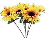 HAAC 20er Set künstliche Sonnenblume Sonnenblumen 32 cm