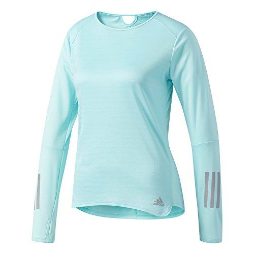 adidas Damen Response Longsleeve T-Shirt, Energy Aqua, XL (Adidas Orange T-shirt Langarm)