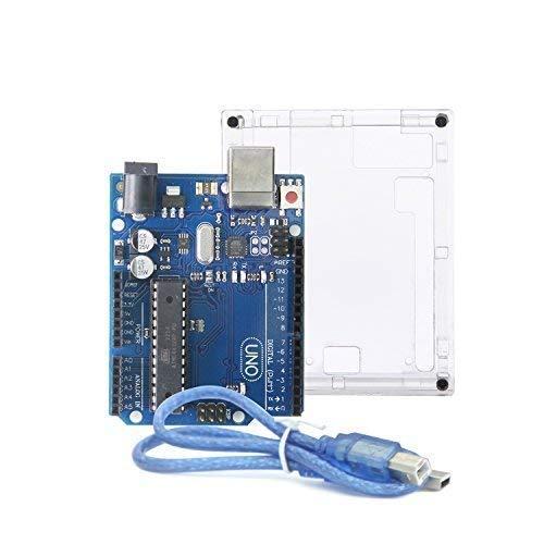 UNO r3 scheda madre ATmega328P ATMEGA16U2 - ALLEU U6011 con gomma e cavo USB compatibile con Arduino UNO R3