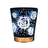 Izzya 3D 100 Ml Wesentlich Öl Aroma Diffusor Sieben Farben Nachtlicht Ultraschall Kühler Nebelbefeuchter Wasserlos Automatische Abschaltung
