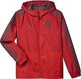 adidas Kinder 18/19 FC Bayern Regenjacke, red/Utility ivy, 176