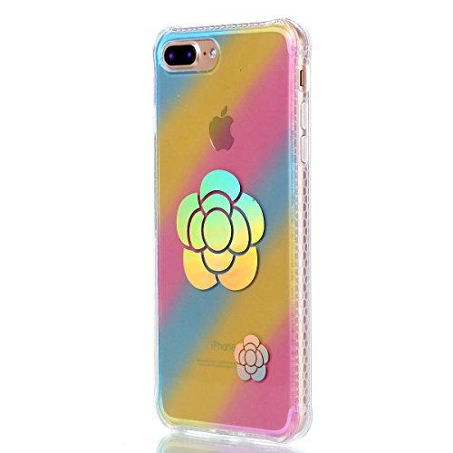 Apple iPhone 7 Plus 5.5 Hülle, Voguecase Schutzhülle / Case / Cover / Hülle / Plating TPU Gel Skin (Sonnenblume 01) + Gratis Universal Eingabestift Sonnenblume 01