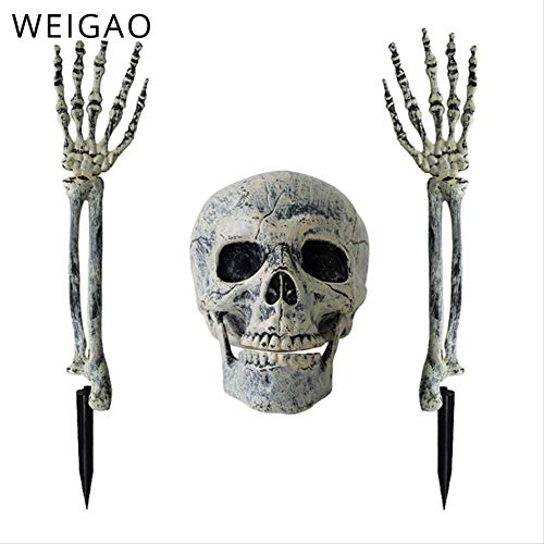 WSJDE Spooky Dead Skull Skeleton Arm Hand Halloween Dekoration Requisiten Spukhaus Horror Scary Craft Home Bar Shop Halloween Dekor