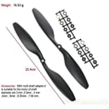 Invento INVNT_13 10 Inch Long 1045 Cw or Ccw Propeller Prop for Rc Multi Quadcopter Helicopter DIY