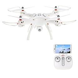 Goolsky Syma X8PRO Wifi FPV Drone con Cámara 720P Altitude Hold One Key Retorno Posicionamiento GPS RC Quadcopter RTF