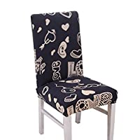 Wmaple Deer Pattern Chair Covers for Dinning Chair Removable Washable Stretch Slipcovers Chair Protectors for Dining Room, Hotel, Banquet, Ceremony Deer 40 * 100cm