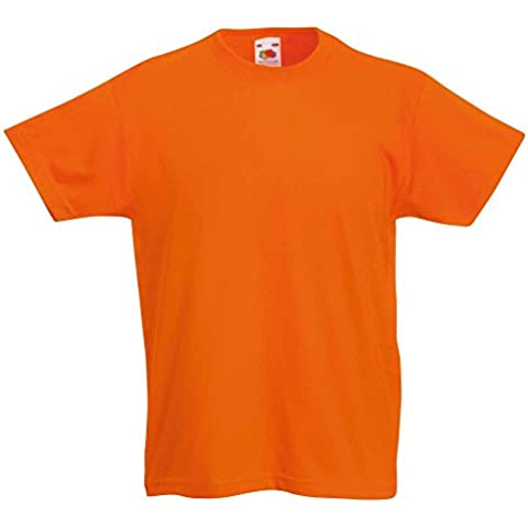 Fruit of the Loom Kids Plain Blank Cotton T Shirt