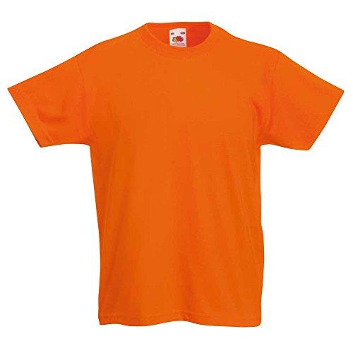 fruit-of-the-loom-t-shirt-garcon-jaune-orange-9-ans