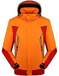 ZKOO Hombre Mujer Impermeables Softshell Chaqueta Cazadoras de Nieve Abrigo Cortavientos al aire libre con Capucha Ropa Deportiva