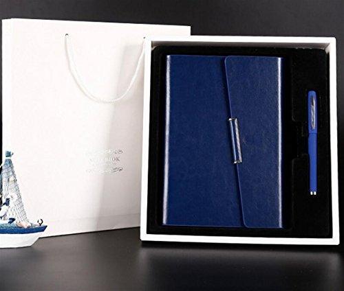 SunnyGod Luxus Schreibset Notebook Stift Set für Studenten (blau)