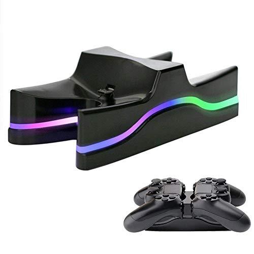 Gyswshh USB-Controller, LED Dual Ladestation Standladestation für Playstation 4 Zufällig
