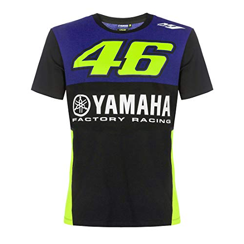 Valentino Rossi VR46 MotoGP M1 Yamaha Factory Racing Team T-Shirt Offiziell 2019