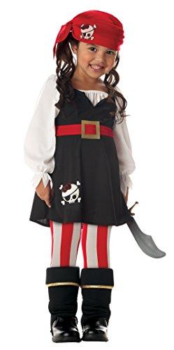 (kleine Piratin Piraten Mädchen Kostüm Fasching Halloween Karneval 104-116)