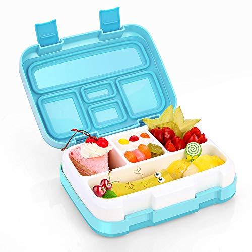 Jelife Bento Box Kids, Kinder Lunchbox, Lunchboxen für Kinder mit 5 Unterteilungen Auslaufsicher, Brotdose Kinder Ideal für Schule, Picknicks, Reisen