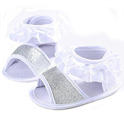 Gemini_mall , Baby Mädchen Lauflernschuhe Weiß