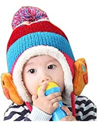 Krystle Prime Baby Boy's Photo Props Winter Kids Warm Fleece Cartoon Hat Ear-flap Knitted Woolen Cap (Multicolour)